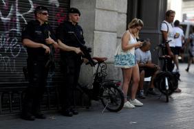 Hlídky na Las Lambras v Barceloně
