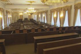 Náhradní sál pro jednání poslanců