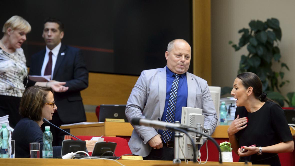 Alexandra Udženija na jednání pražského zastupitelstva