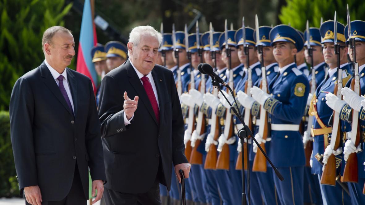 Prezident Miloš Zeman na návštěvě Ázerbájdžánu