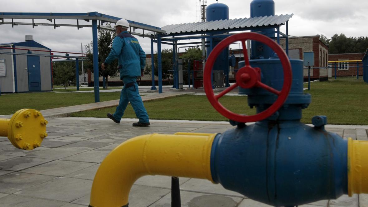 Plynová stanice na Ukrajině