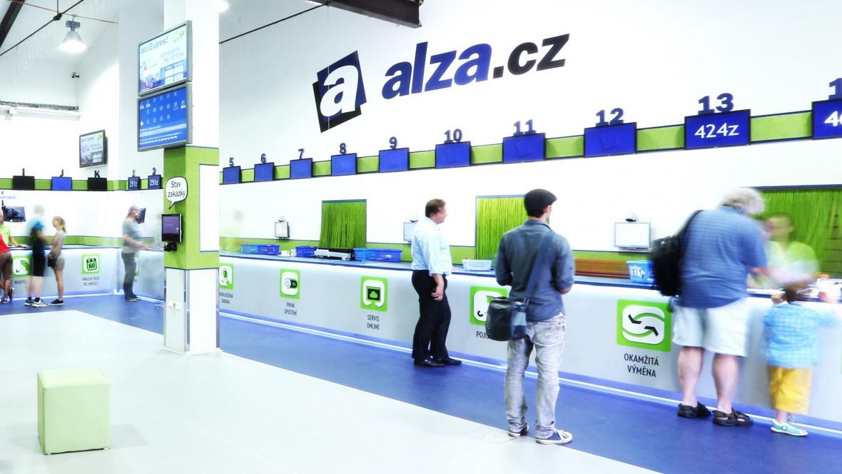 Výdej zboží e-shopu Alza.cz