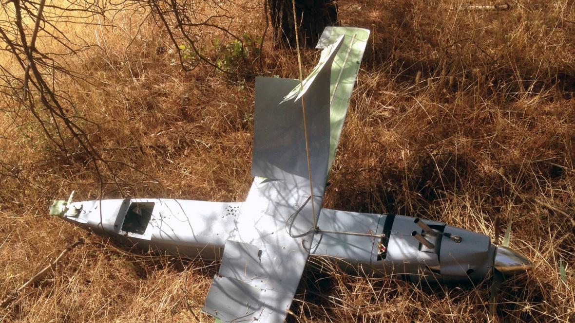 Sestřelený dron u turecko-syrské hranice