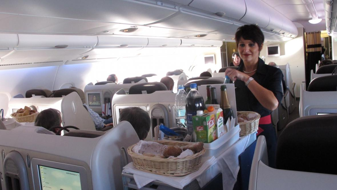 Občerstvení na palubě letadla