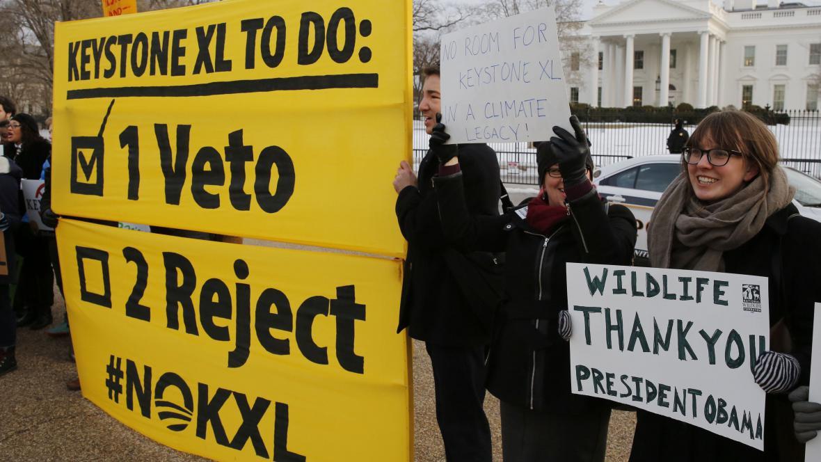 Protesty proti ropovodu Keystone XL