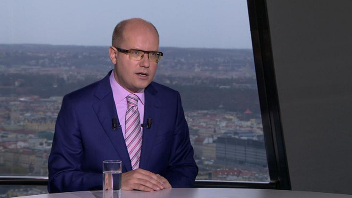 Premiér Bohuslav Sobotka v OVM