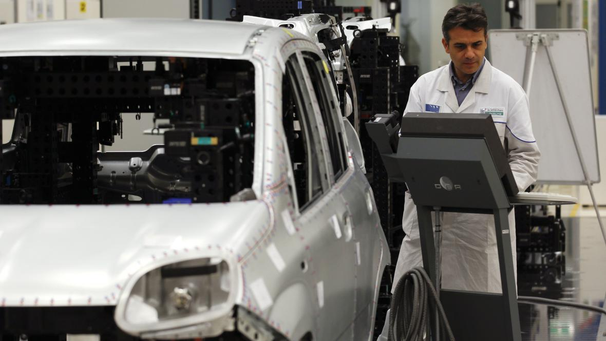Kontrola vozu Fiat Panda ve výrobě