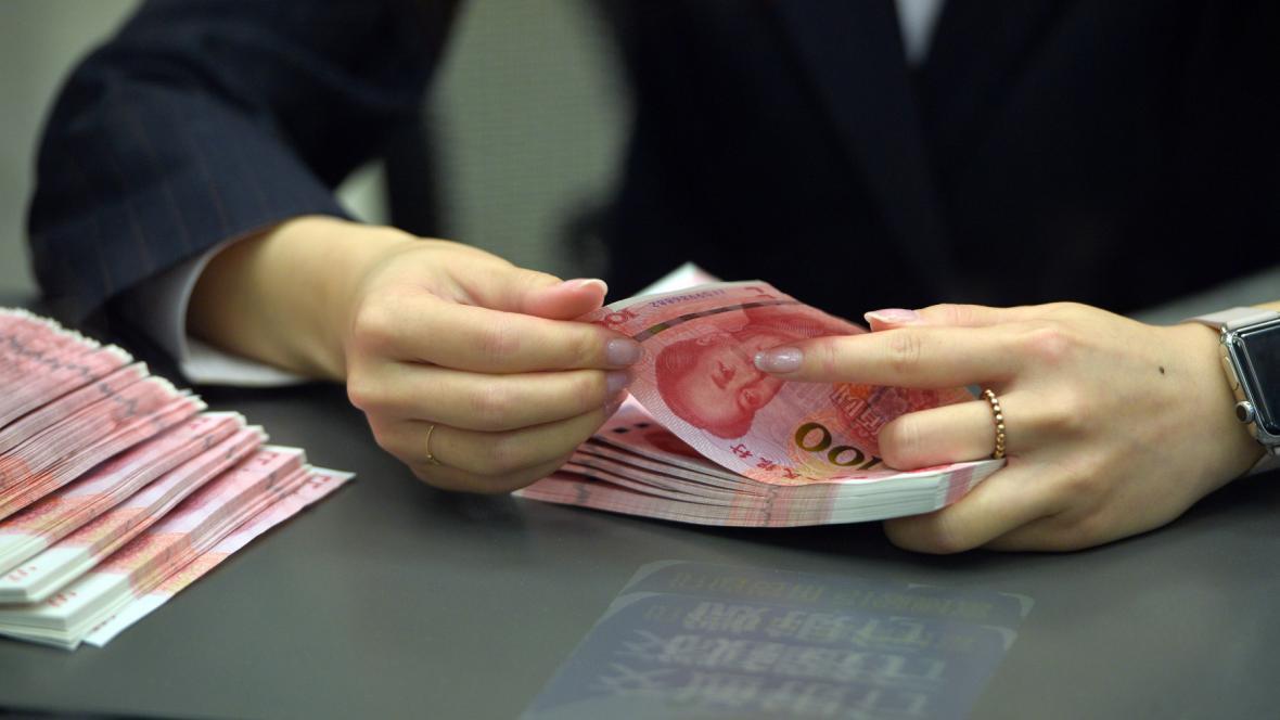 Přepočítávání čínských bankovek