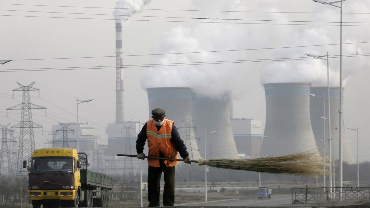 Uhelná elektrárna v čínské oblasti Ning-sia