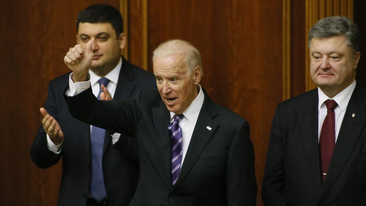 Americký viceprezident Joe Biden na Ukrajině
