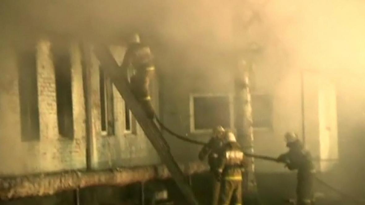 Požár na klinice v Alferovce
