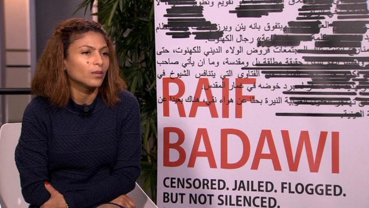 Ensaf Haidarová, manželka blogera Raífa Badávího
