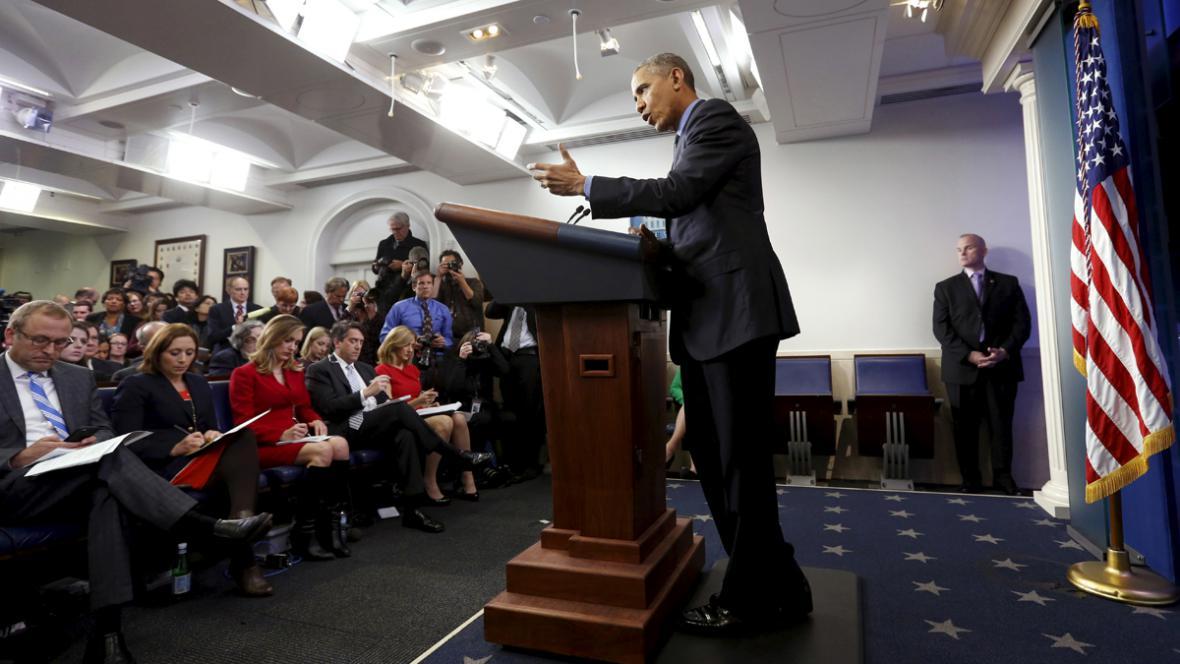 Barack Obama na závěrečné letošní tiskové konferenci