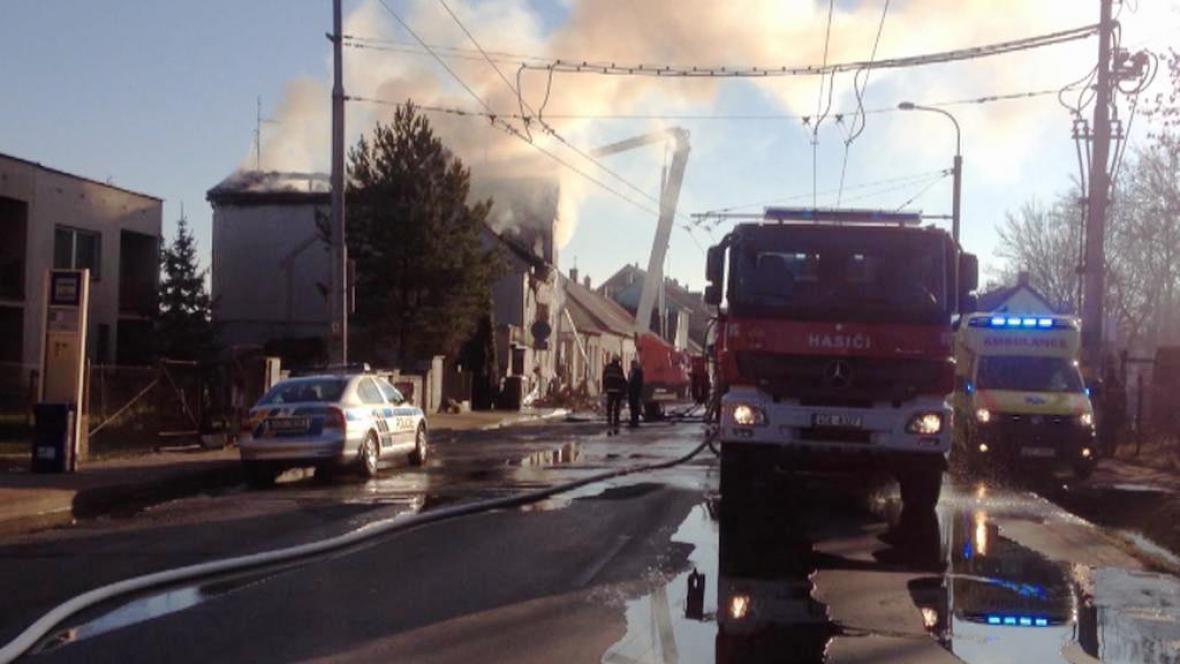 Požár garáže rodinného domu v Českých Budějovicích