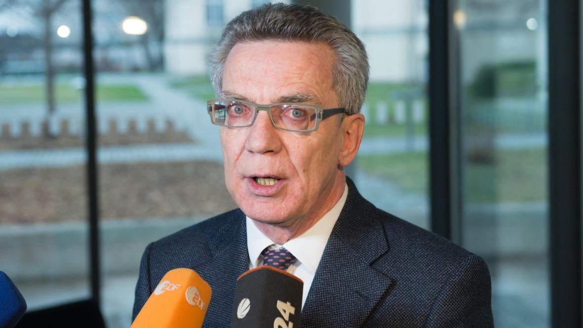 Německý ministr vnitra Thomas de Maizière