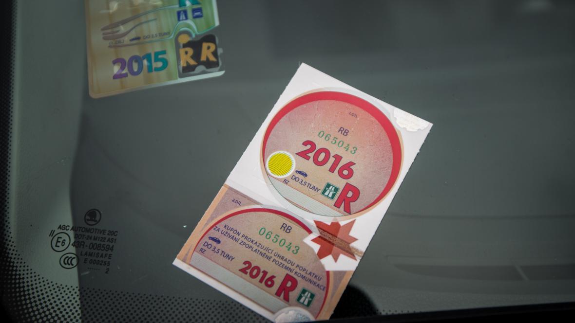 Dálniční známka na rok 2016