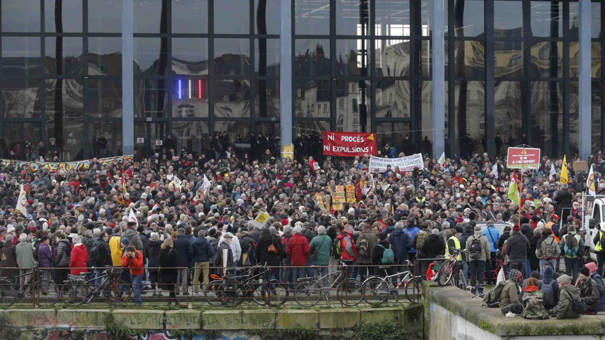 Protest proti stavbě letiště v Nantes