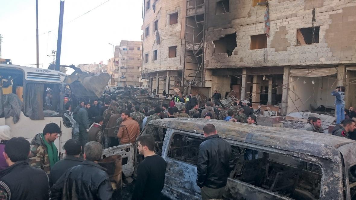 Série výbuchů u Damašku