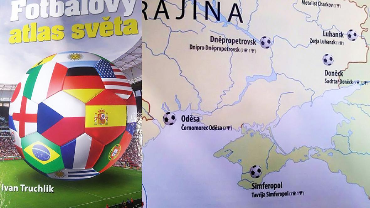 Fotbalový atlas světa zobrazuje Krym jako součást Ruska
