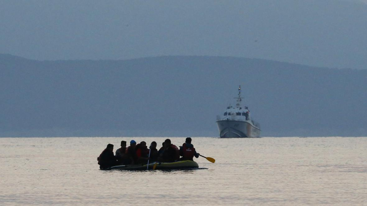 Migranti u řeckého Kosu