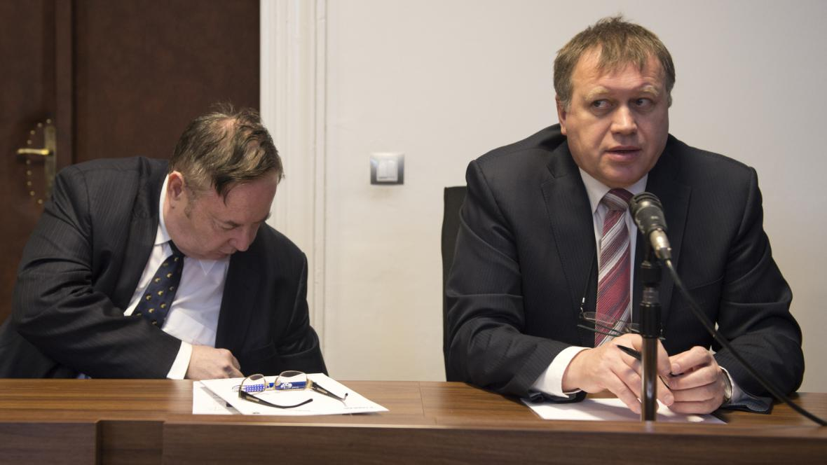 Vladimír Smejkal (vlevo) a Vladimír Šiška