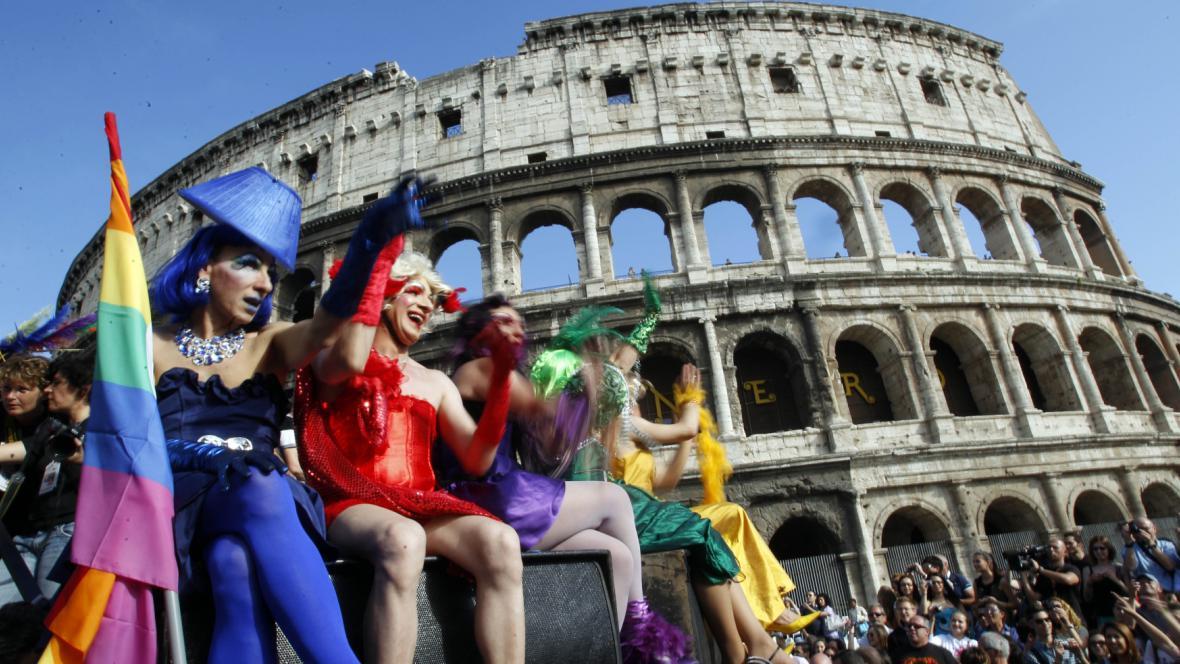 Pochod za práva gayů v Římě
