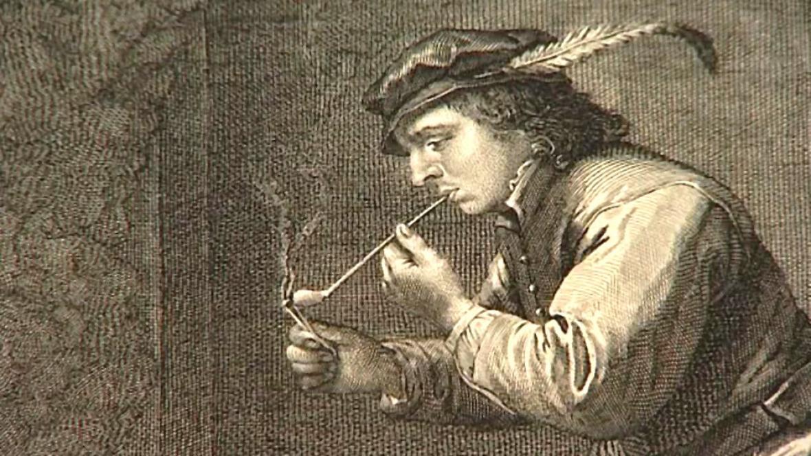 Barokní rytina z Nizozemí