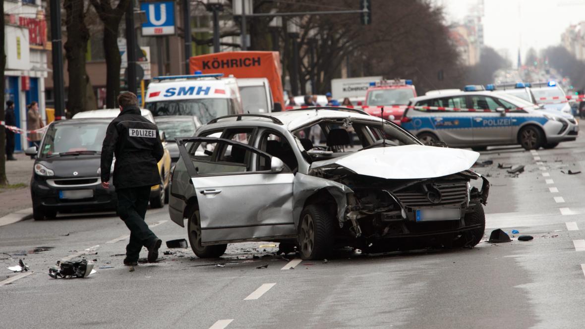 Výbuch auta v Berlíně