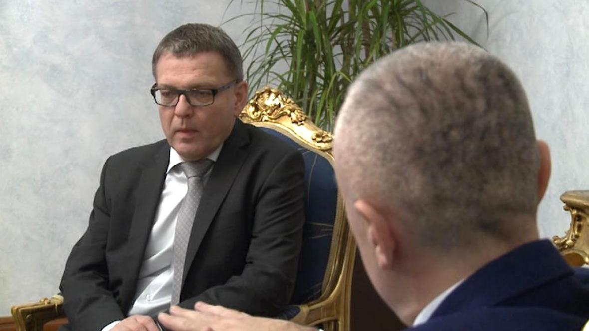 Lubomír Zaorálek na návštěvě Albánie