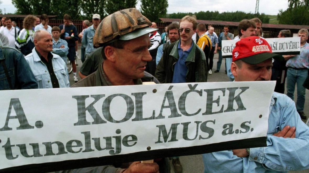 Stávka na dole Koh-i-noor v roce 1999