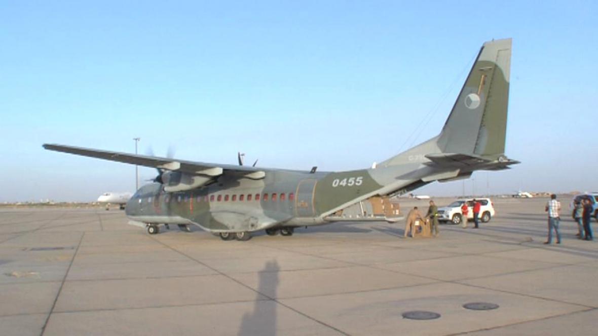 Casa české armády na letišti v Damašku