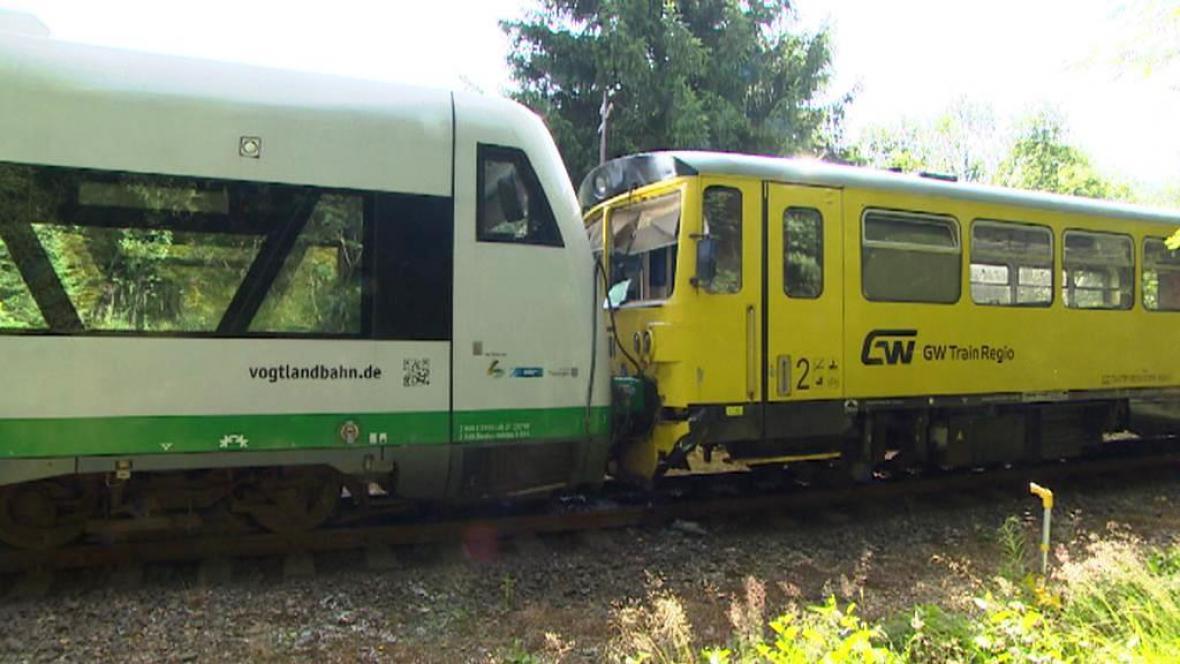 U Rotavy se srazily dva vlaky