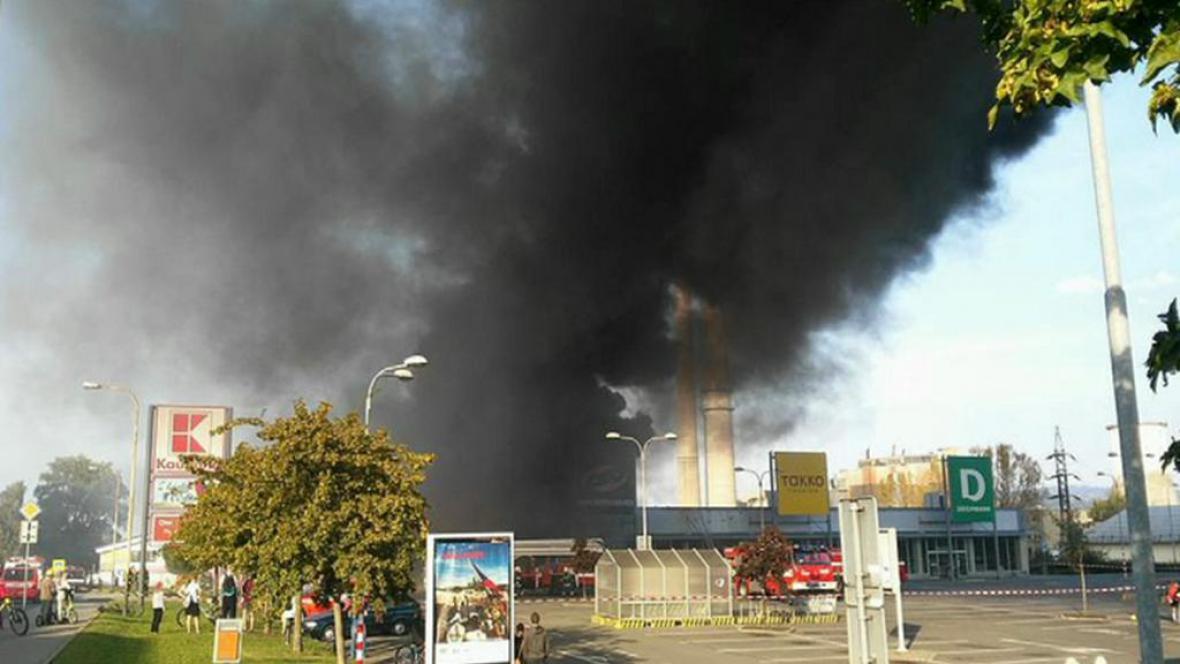 Požár v Kopřivnici