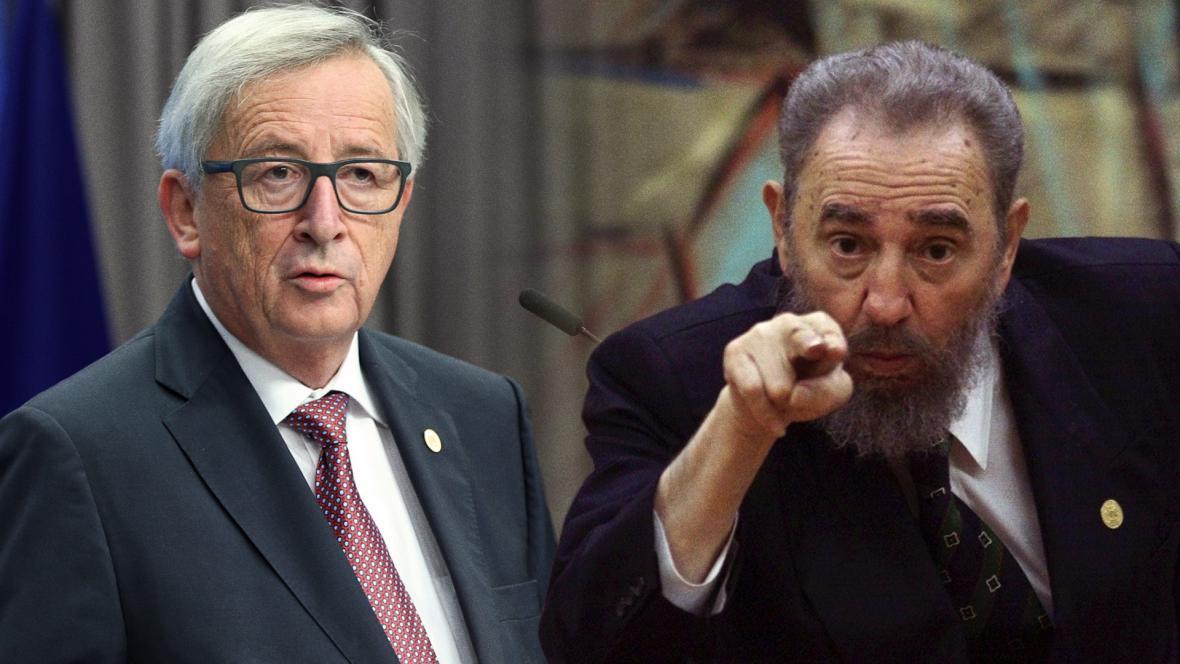 Jean-Claude Juncker a Fidel Castro