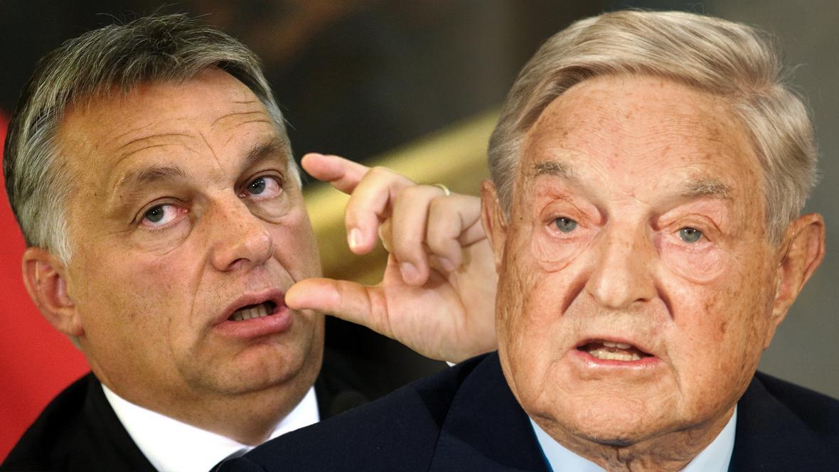 Victor Orbán a George Soros