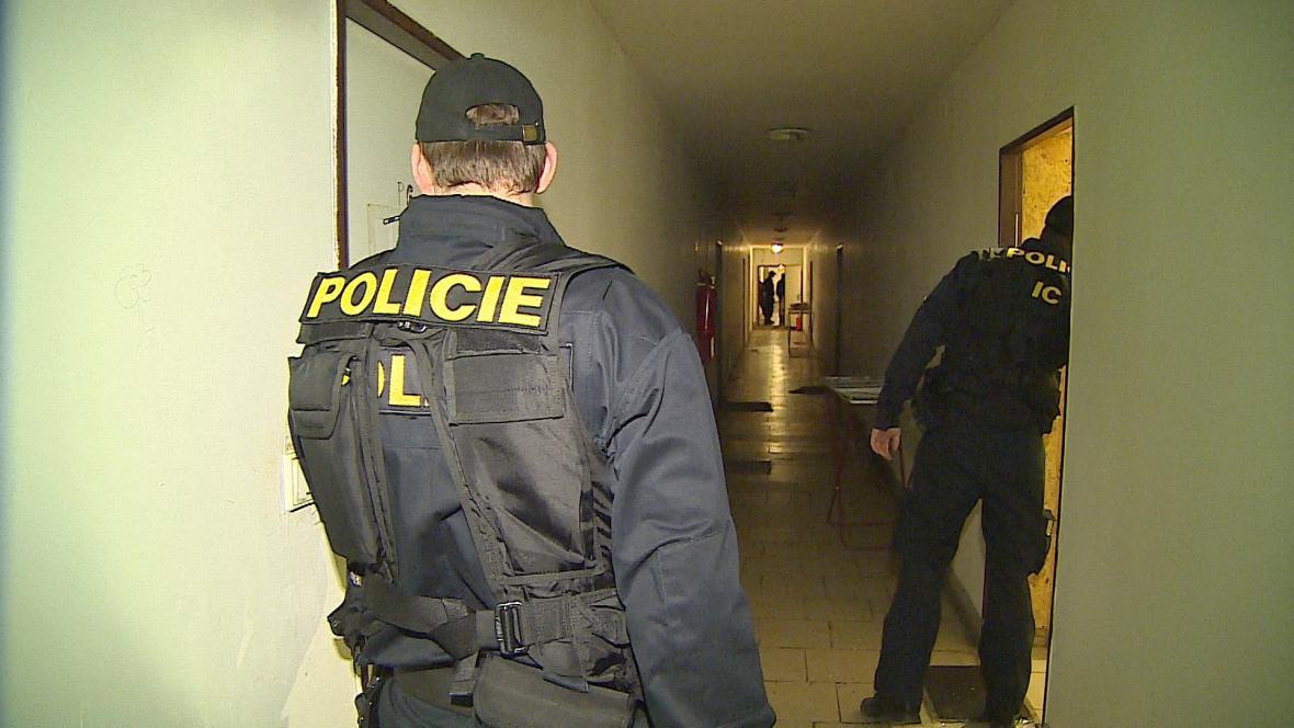 Policejní kontrola na ubytovně
