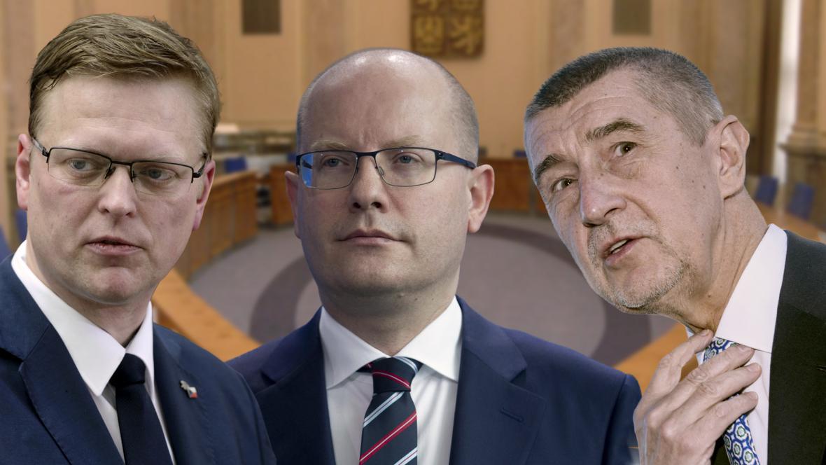 Koaliční lídři