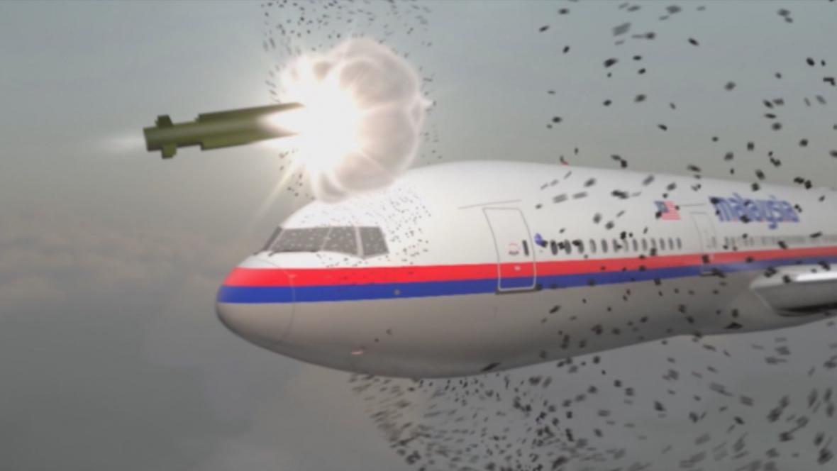 Animace: Zásah MH17