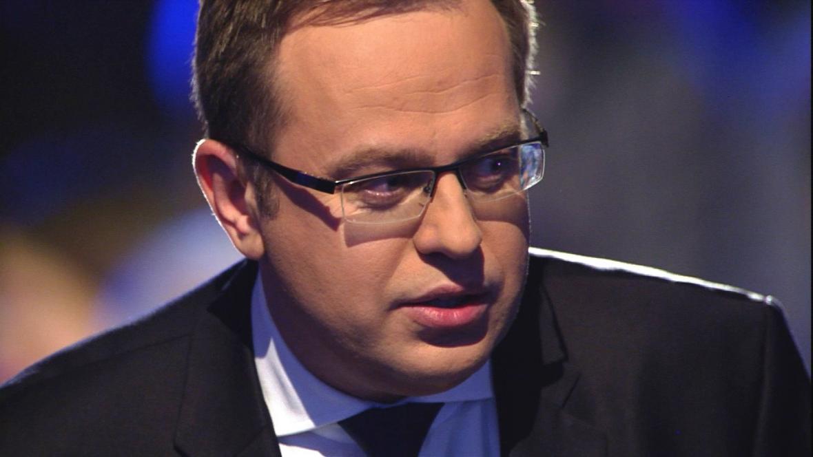 Moderátor předvolební Superdebaty ČT Václav Moravec