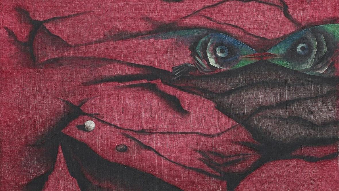 """Obraz malířky Toyen """"Původ pravdy"""""""
