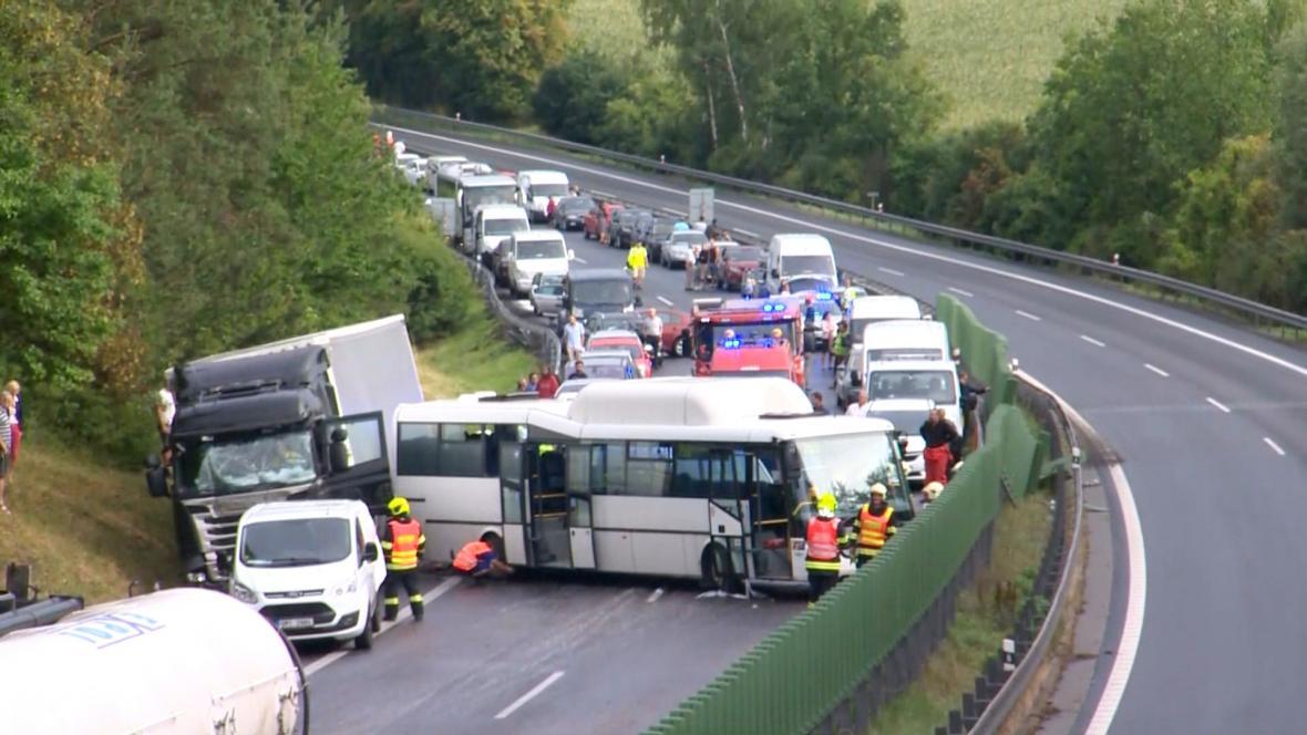 Nehoda na dálnici D46