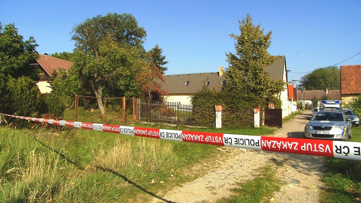 Místo střelby v Jankovské Lhotě na Benešovsku