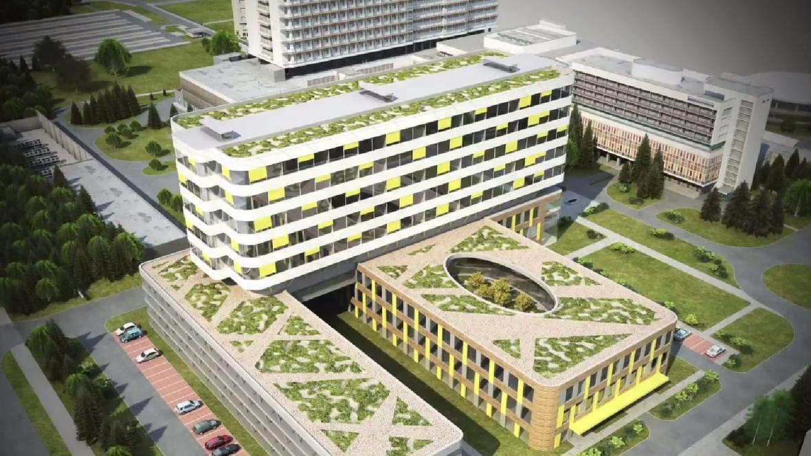 Vizualizace nové porodnice v Brně - Bohunicích