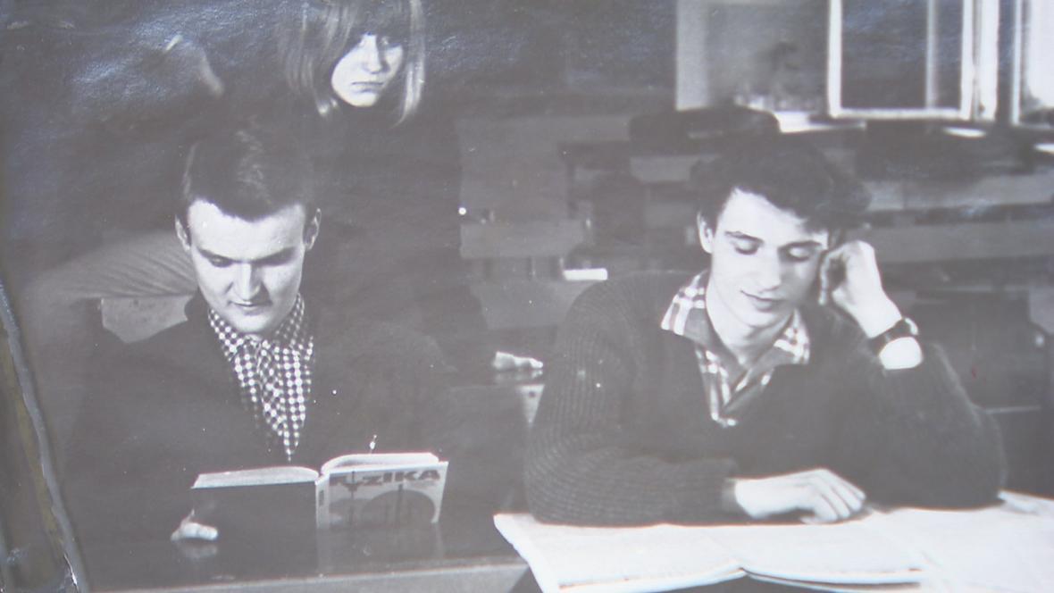 Snímek ze studentských let Jana Palacha