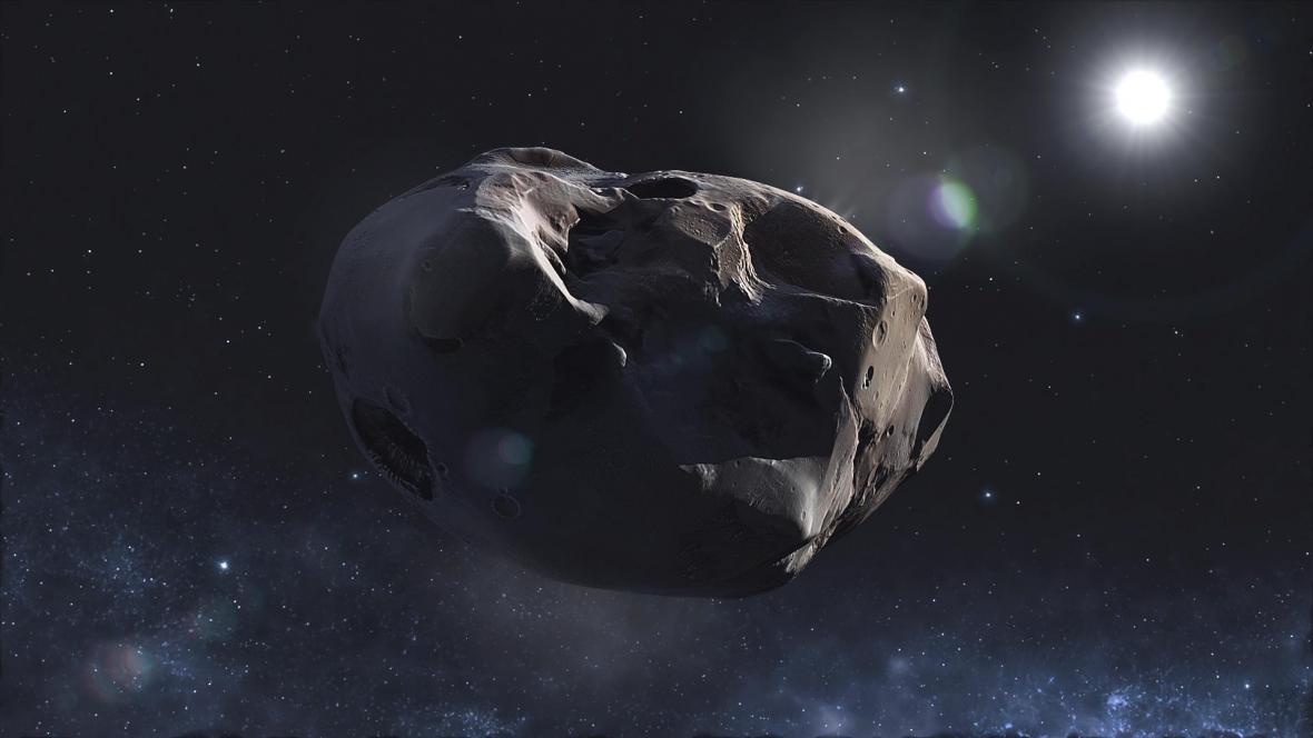 Umělecká představa asteroidu