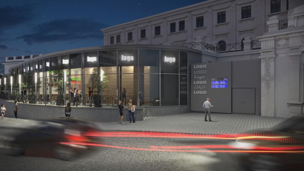 Vedle nádraží vzniká přístavba s obchody a restaurací
