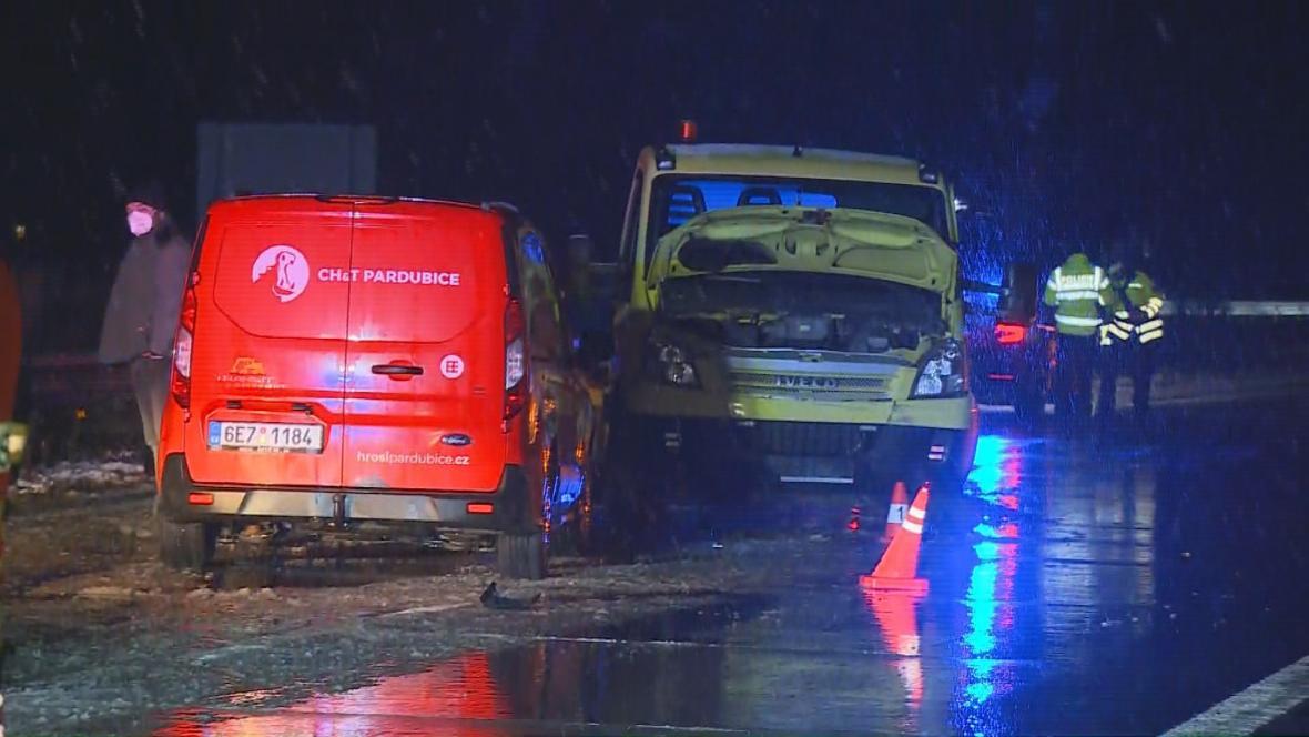 Nehoda na dálnici D11