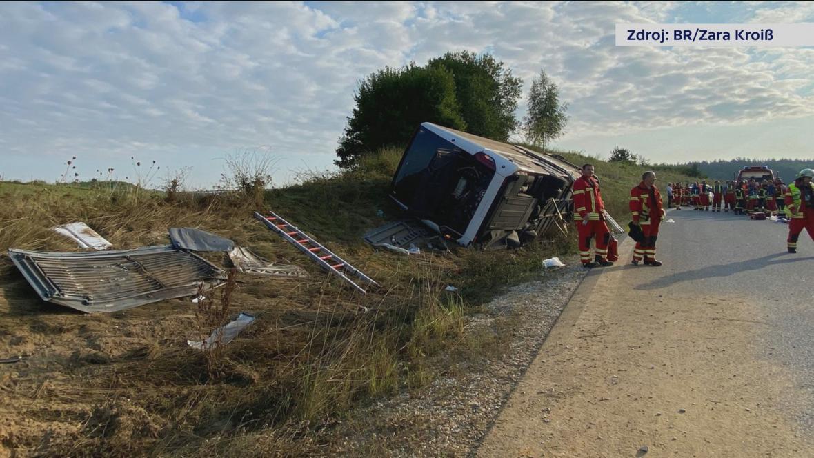Nehoda českého autobusu v Bavorsku