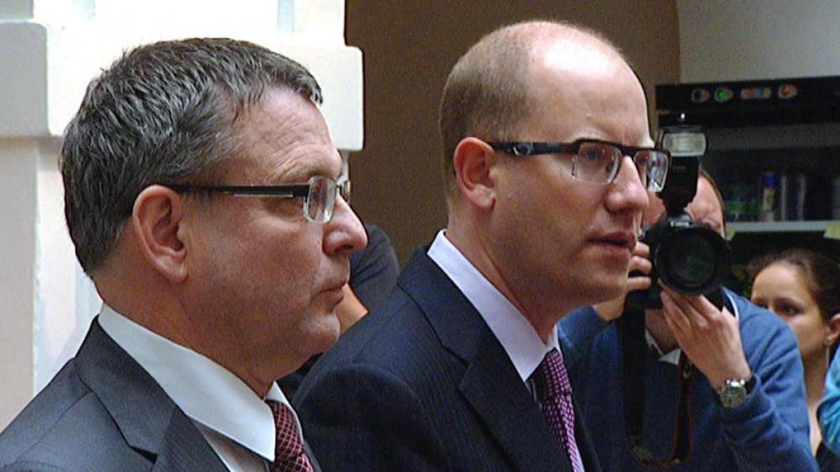 Bohuslav Sobotka a Lubomír Zaorálek
