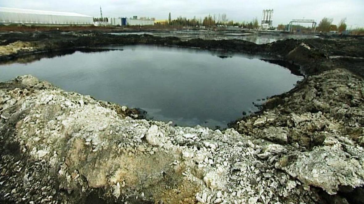 Ropné laguny na Ostravsku